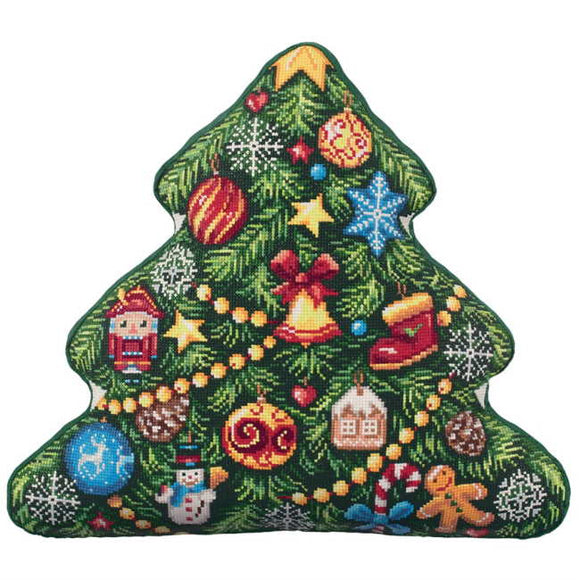 Christmas Tree Pillow Cross Stitch Kit by PANNA