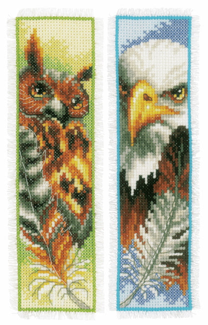 Eagle and Owl Bookmark Cross Stitch Kit By Vervaco
