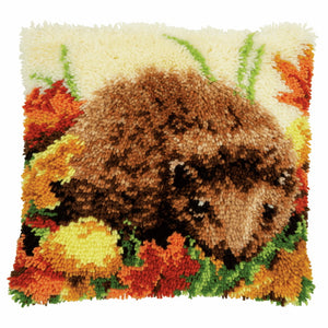 Hedgehog Latch Hook Cushion Kit By Vervaco
