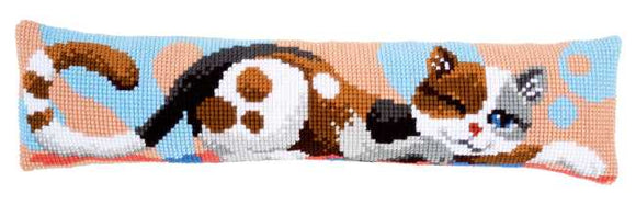 Cat Cross Stitch Draught Excluder Cushion Kit By Vervaco