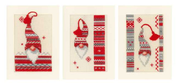 Christmas Elf Cross Stitch Christmas Card Kit By Vervaco
