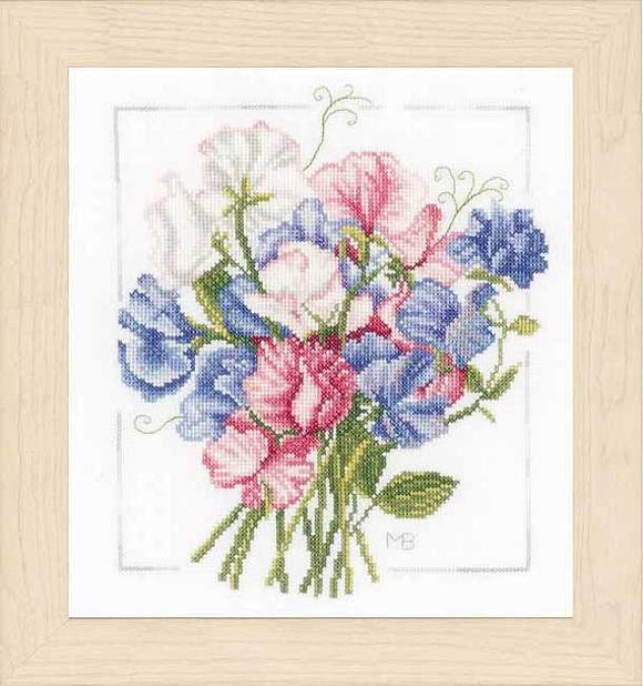 Colourful Bouquet Cross Stitch Kit By Lanarte