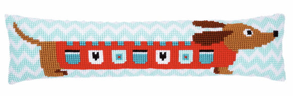 Cute Dog Cross Stitch Draught Excluder Cushion Kit By Vervaco