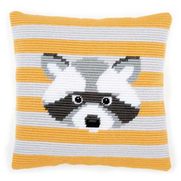 Walter Racoon Counted Long Stitch Cushion Kit By Vervaco