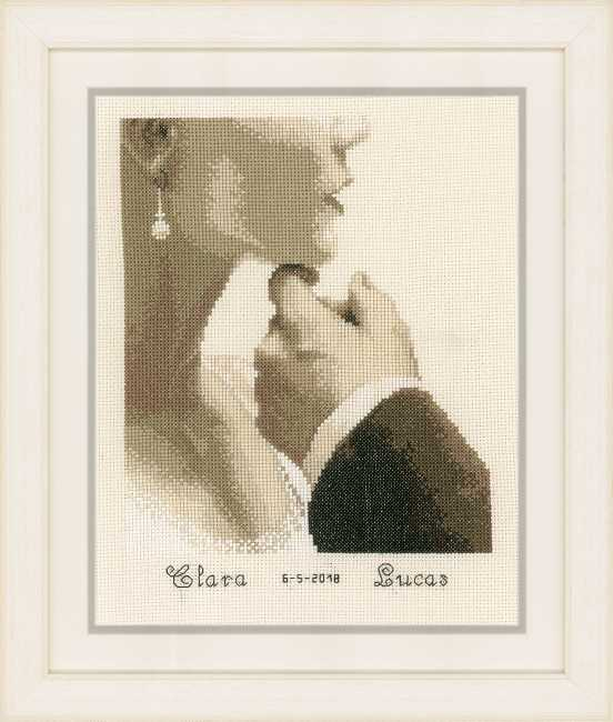 Bride and Groom Wedding Sampler Cross Stitch Kit By Vervaco
