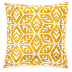 Geometric Design Printed Cross Stitch Cushion Kit by Vervaco