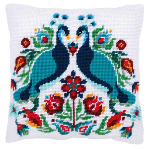Peacock Tapestry Cushion Kit by Vervaco