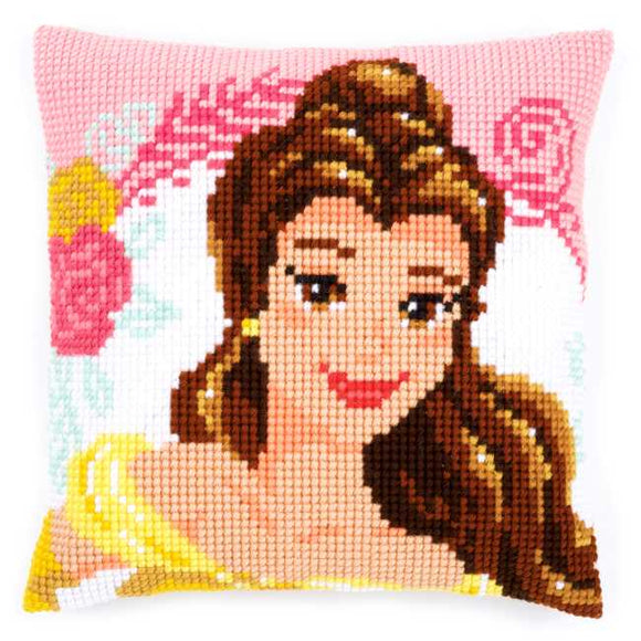 Enchanted Beauty Printed Cross Stitch Cushion Kit by Vervaco