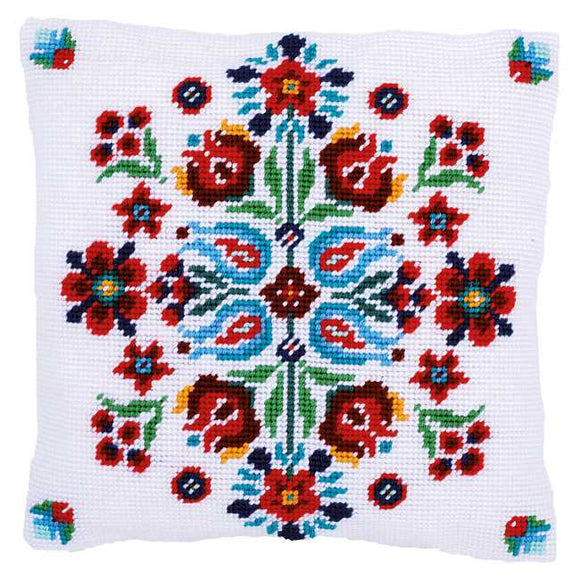 Folklore Tapestry Cushion Kit by Vervaco