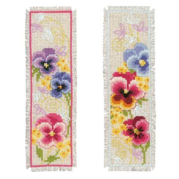 Violets Bookmark Cross Stitch Kit By Vervaco