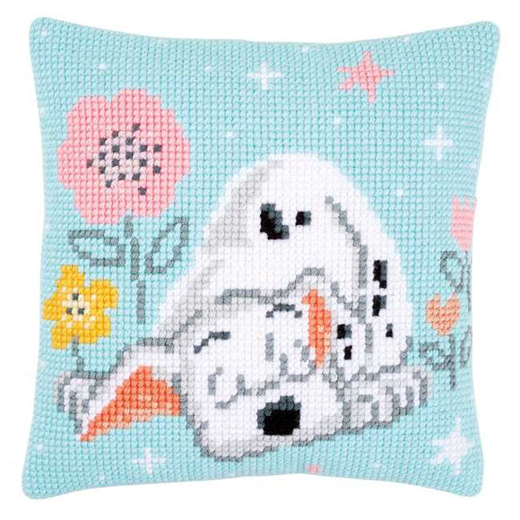 Dalmation Printed Cross Stitch Cushion Kit by Vervaco