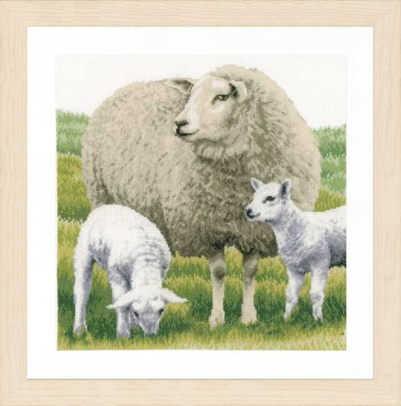 Sheep Cross Stitch Kit By Lanarte