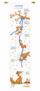 Forest Friends Height Chart Cross Stitch Kit By Vervaco