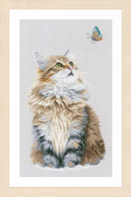 Forest Cat Cross Stitch Kit By Lanarte