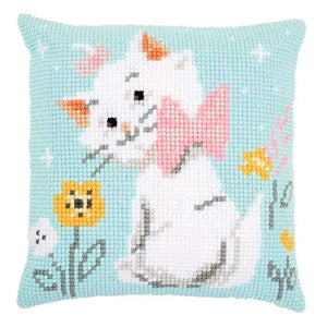 Aristocats Marie Printed Cross Stitch Cushion Kit by Vervaco