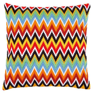 Zig Zag Lines Long Stitch Cushion Kit By Vervaco