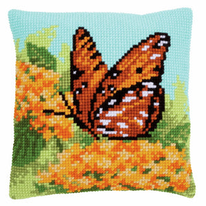 Beauty of Nature Printed Cross Stitch Cushion Kit by Vervaco