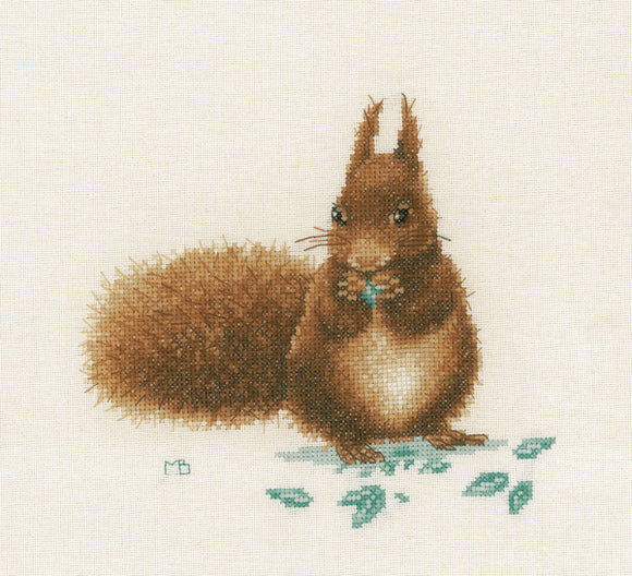 Squirrel Cross Stitch Kit By Lanarte