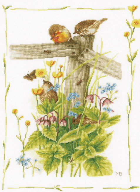 Cosy Garden Corner Cross Stitch Kit By Lanarte
