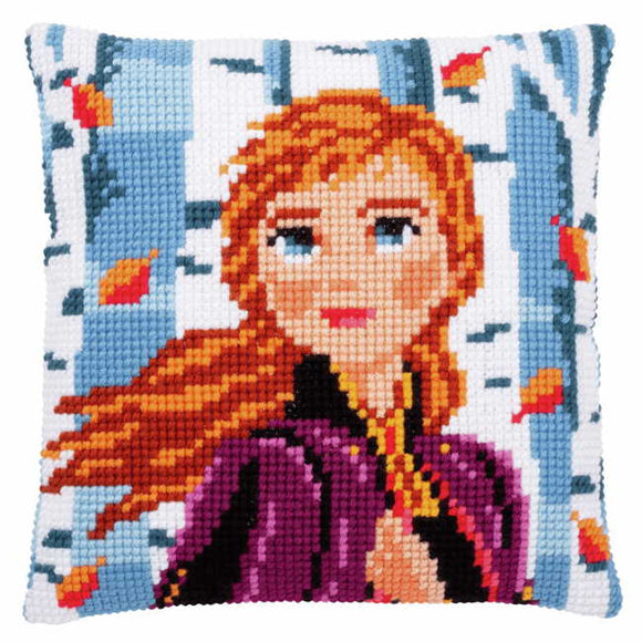 Anna Printed Cross Stitch Cushion Kit by Vervaco