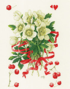 A Hellebores Gift Cross Stitch Kit By Lanarte