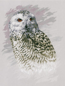 Snowy Owl Cross Stitch Kit By Lanarte