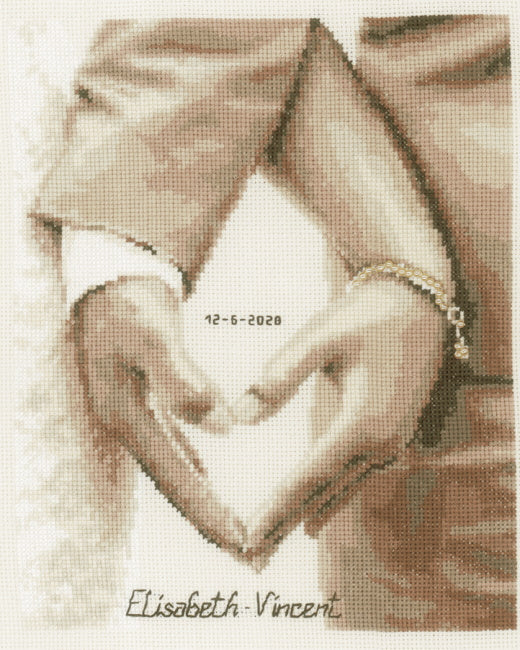 Heart of the Newlyweds Wedding Sampler Cross Stitch Kit By Vervaco