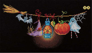 Halloween Banner Cross Stitch Kit by PANNA
