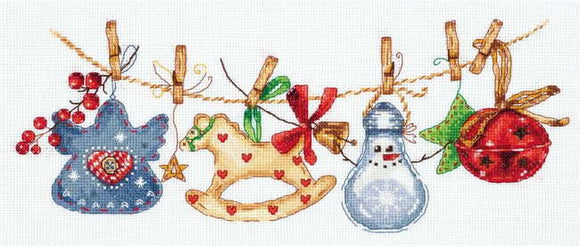 Christmas Ornaments Cross Stitch Kit by PANNA