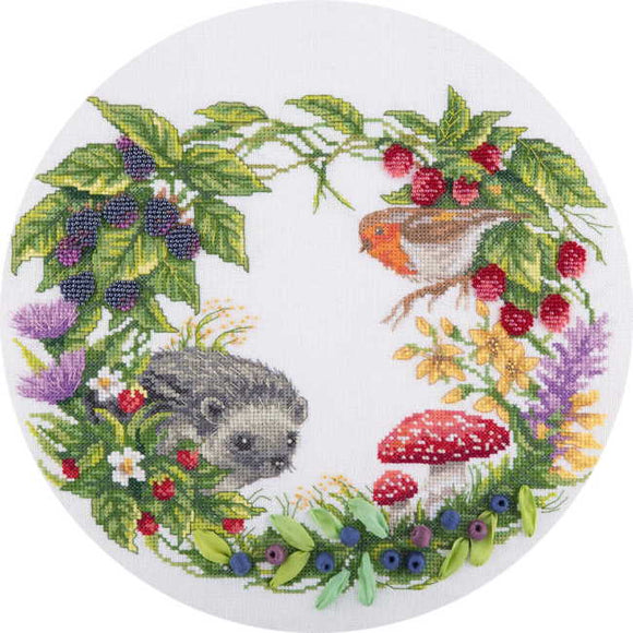 Summer Wildlife Wreath Cross Stitch Kit by PANNA