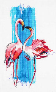 Flamingos Cross Stitch Kit by PANNA