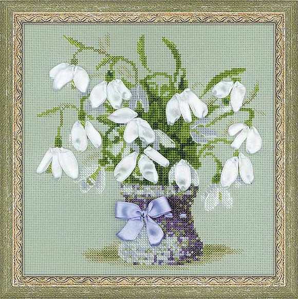 Snowdrops Cross Stitch Kit By RIOLIS