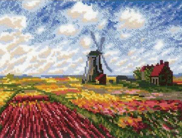 Tulip Fields Cross Stitch Kit By RIOLIS