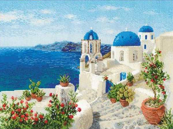Santorini Cross Stitch Kit By RIOLIS