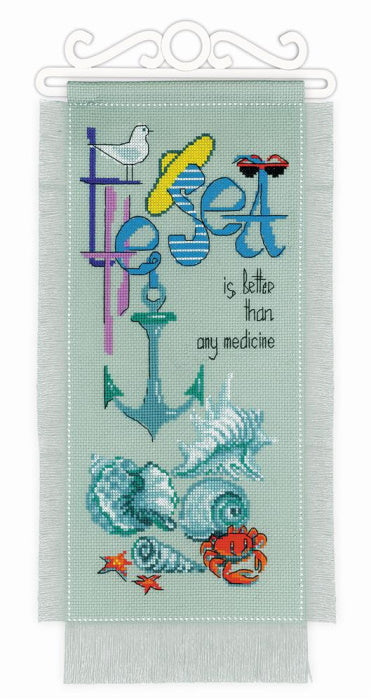 The Sea is Better Cross Stitch Kit By RIOLIS