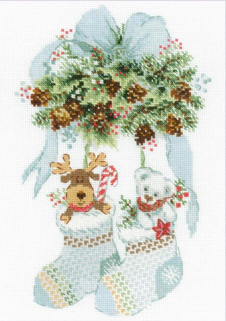 Bear, Cones and Deer Cross Stitch Kit By RIOLIS