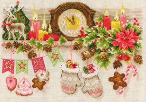 Christmas Shelf Cross Stitch Kit By RIOLIS