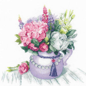 Floral Charm Cross Stitch Kit By RIOLIS