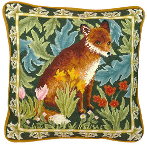 Woodland Fox William Morris Tapestry Cushion Kit By Bothy Threads