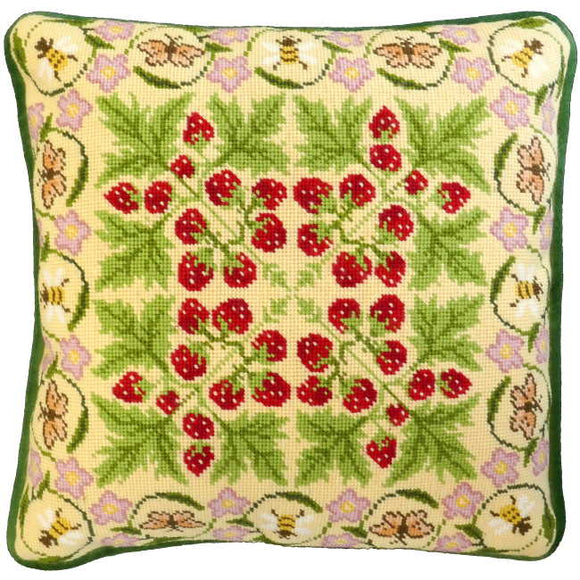 The Strawberry Patch Tapestry Cushion Kit By Bothy Threads