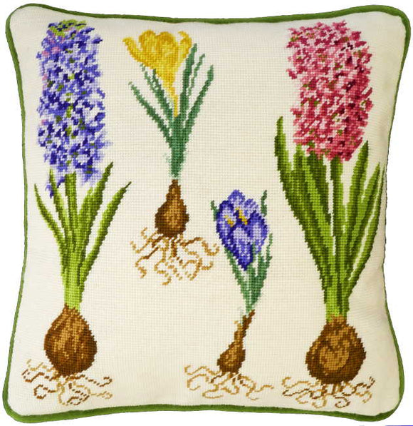 Hyacinth and Crocus Tapestry Cushion Kit By Bothy Threads