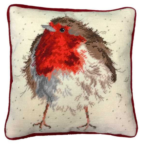 Jolly Robin Tapestry Cushion Kit By Bothy Threads