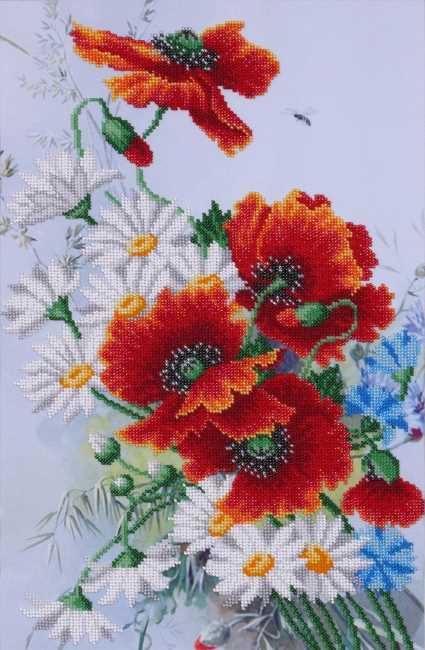 Summer Bouquet Bead Embroidery Kit by VDV