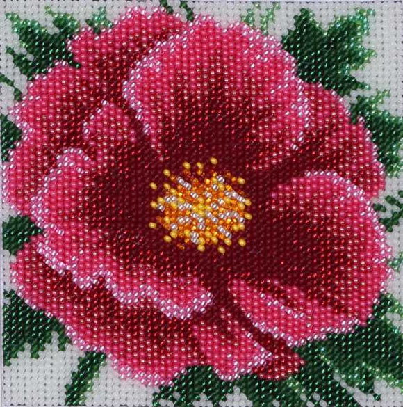 Chinese Rose Bead Embroidery Kit by VDV