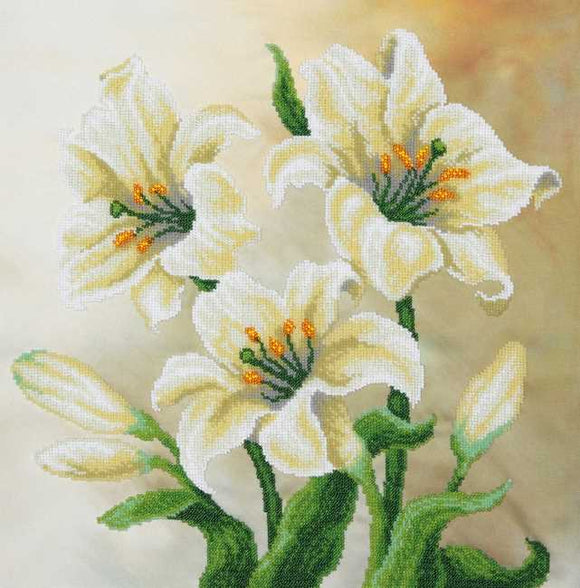 Lilies Bead Embroidery Kit by VDV