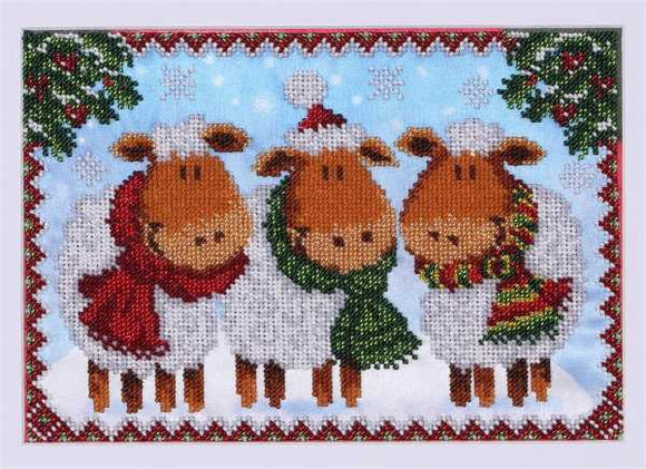 Christmas Sheep Bead Embroidery Kit by VDV