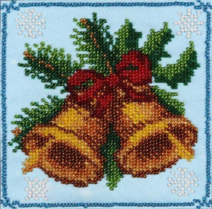 Christmas Bells Bead Embroidery Kit by VDV