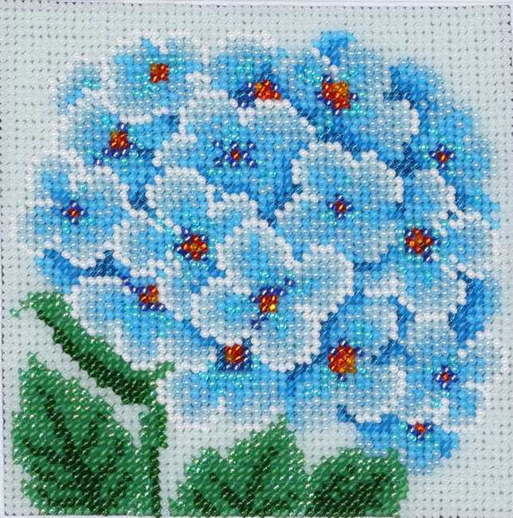 Blue Hydrangea Bead Embroidery Kit by VDV