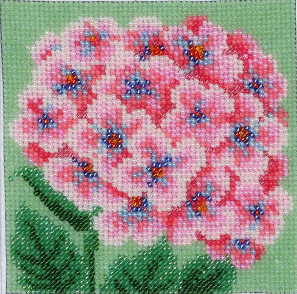 Pink Hydrangea Bead Embroidery Kit by VDV