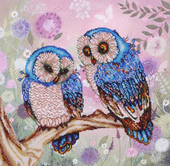 Fabulous Owls Bead Embroidery Kit by VDV
